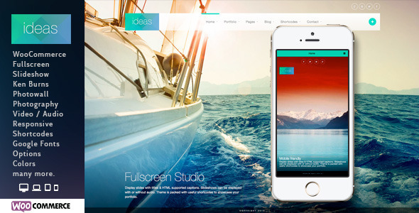 Ideas - Fullscreen Responsive WordPress Theme - Photography Creative