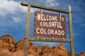 Colorado welcome sign - PhotoDune Item for Sale