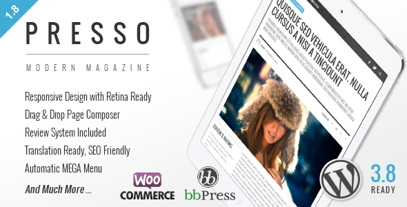 PRESSO - Clean & Modern Magazine Theme - Blog / Magazine WordPress