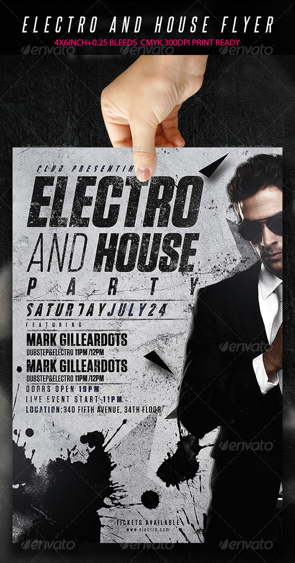 GraphicRiver Electro And House Party 7045845