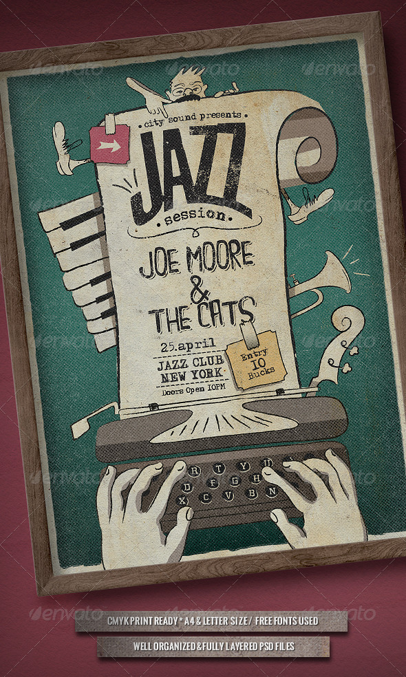 GraphicRiver Jazz Session Poster 7045887