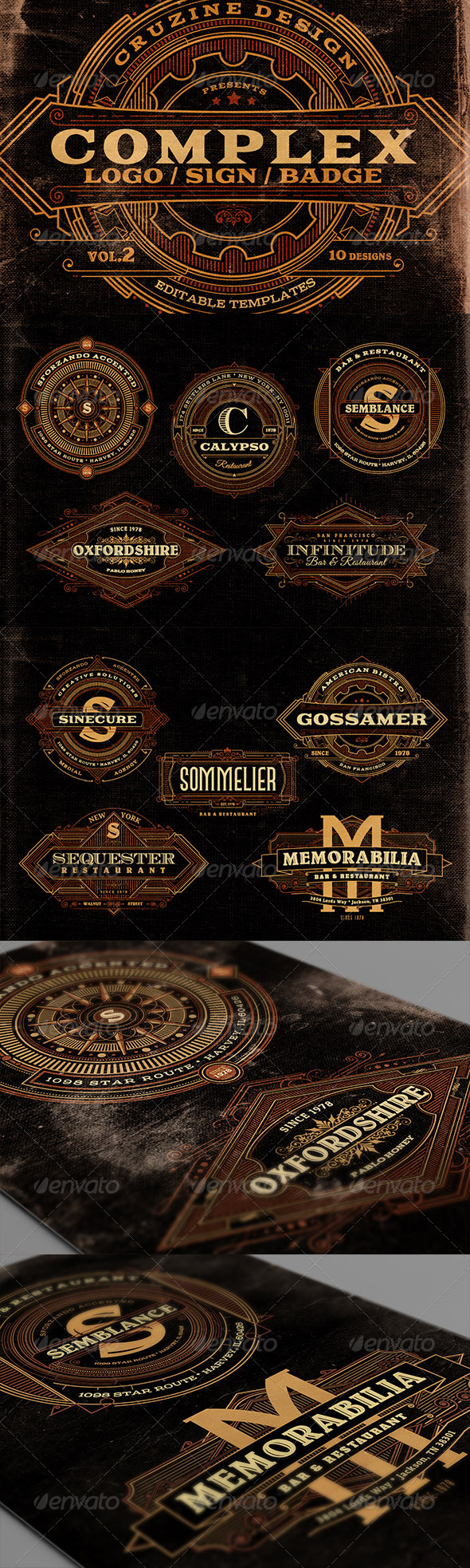 GraphicRiver Complex Logos Signs Badges v.2 7045989
