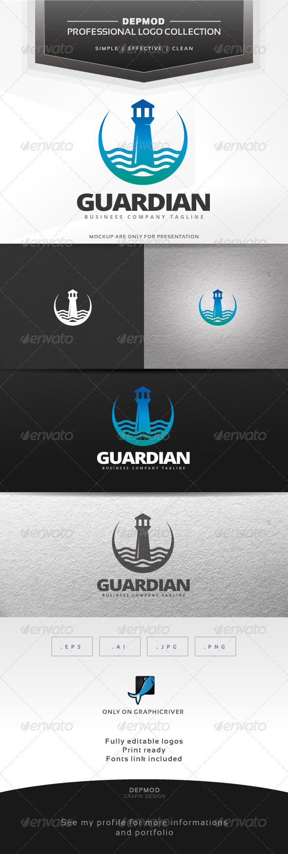 GraphicRiver Guardian Logo 7046215