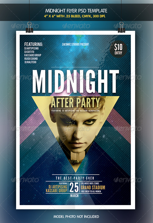 GraphicRiver Midnight After Party Flyer Template 7046485