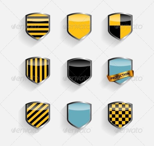 GraphicRiver Protect Shield Set 7046792