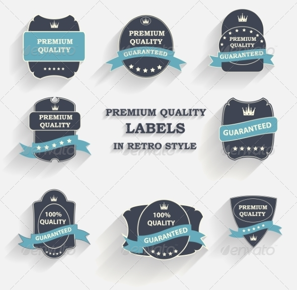 GraphicRiver Premium Quality Label Set in Retro Style 7047000