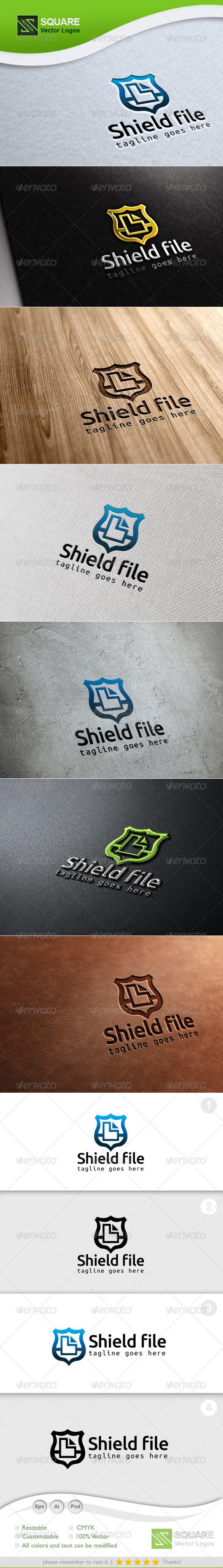 GraphicRiver Shield File Vector Logo Template 7047333
