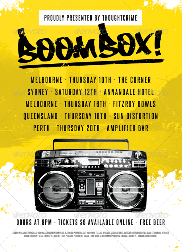 Boombox! - Flyer Template - Clubs & Parties Events