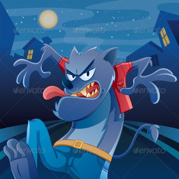 Werewolf Cartoon - Characters Vectors