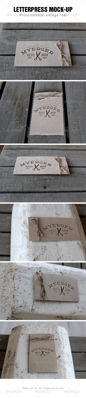 GraphicRiver Letterpress Logo Mockup 7048273