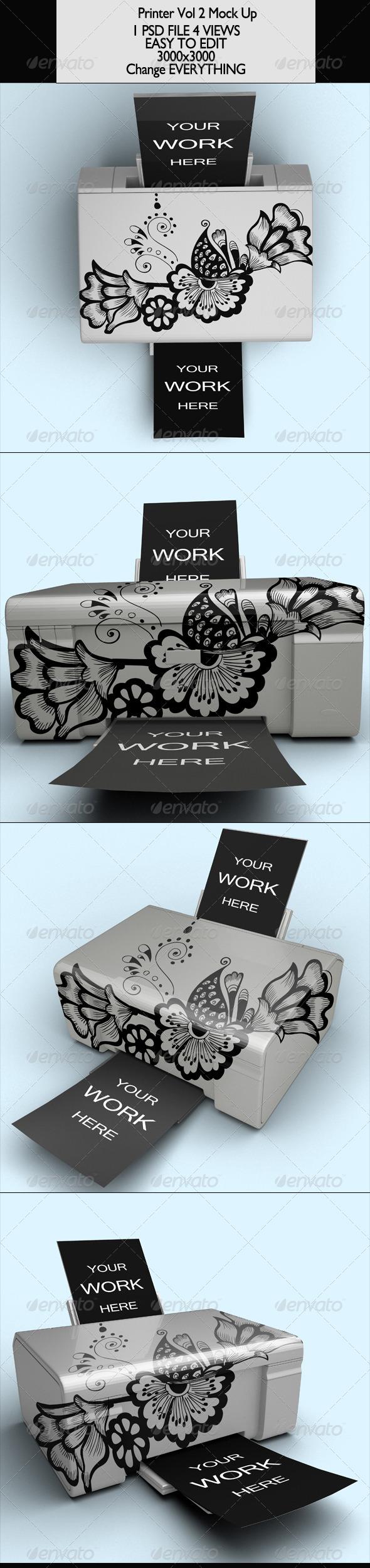 GraphicRiver Printer Vol 2 Mock-Up 7048281