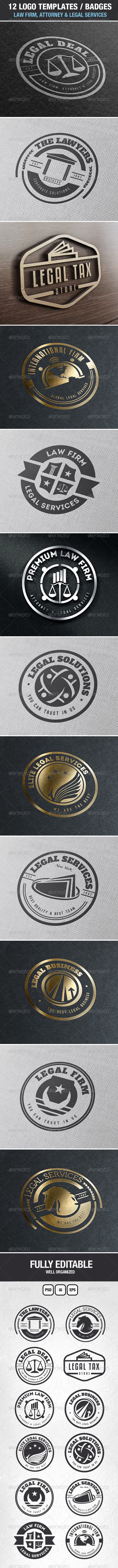 GraphicRiver Law Firm Attorney & Legal Services Logos & Badges 7048297