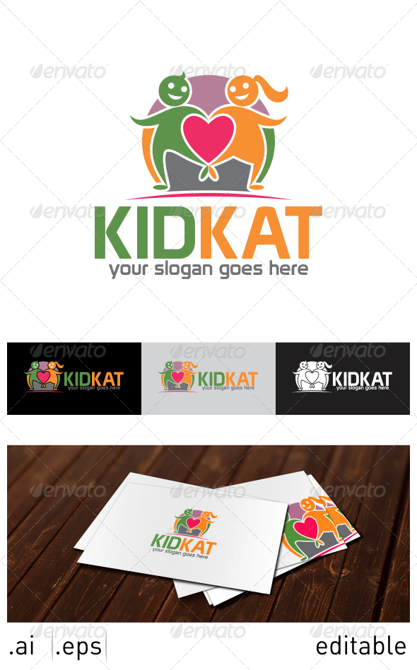GraphicRiver Kid Kat Logo Template 7025111