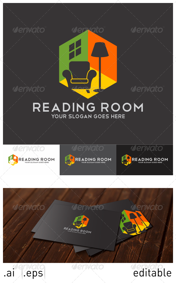 GraphicRiver Reading Room Logo Template 7025241