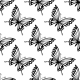 Seamless Pattern of Flying Butterflies - GraphicRiver Item for Sale