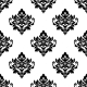 Black and White Repeat Floral Arabesque Pattern - GraphicRiver Item for Sale