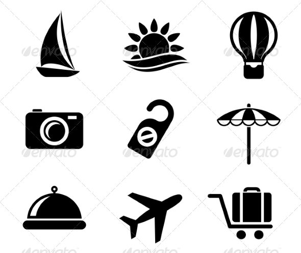 GraphicRiver Set of Travel and Tourism Icons 7049077
