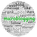Microblog concept in word tag cloud - PhotoDune Item for Sale