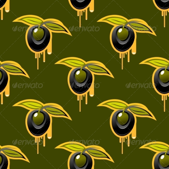 GraphicRiver Repeat Background Seamless Pattern of Olives 7049171