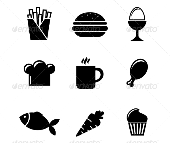 GraphicRiver Collection of Food Icons 7049181