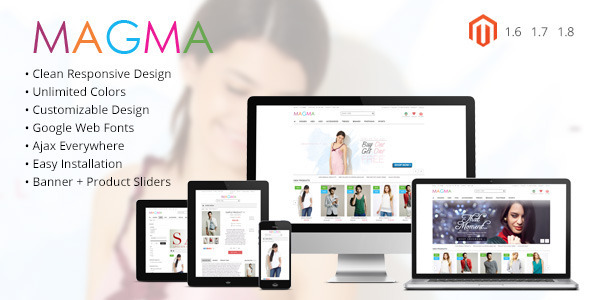 MAGMA - Fashion Responsive Magento Template - Fashion Magento
