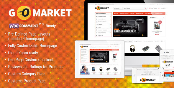 WooCommerce Supermarket Theme - GoMarket