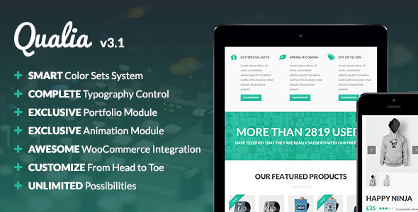 Qualia - Flexible Multi-Purpose Theme