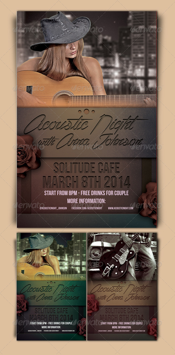 GraphicRiver Acoustic Night Flyer Template 7049313