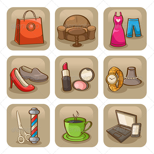 GraphicRiver Fashion Icons 7049518