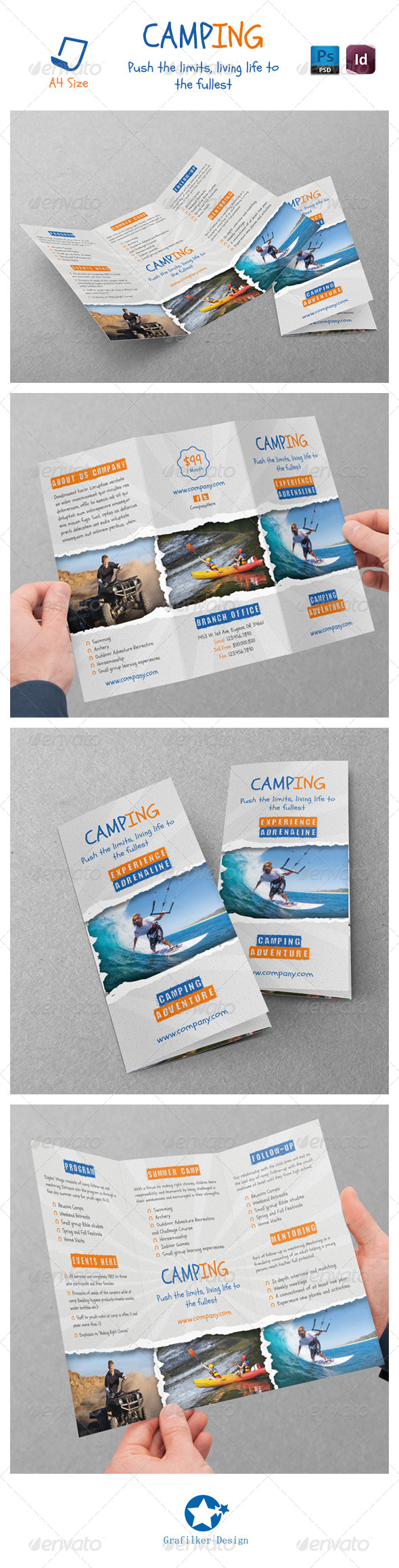 GraphicRiver Camping Adventure Tri-Fold Templates 7049850