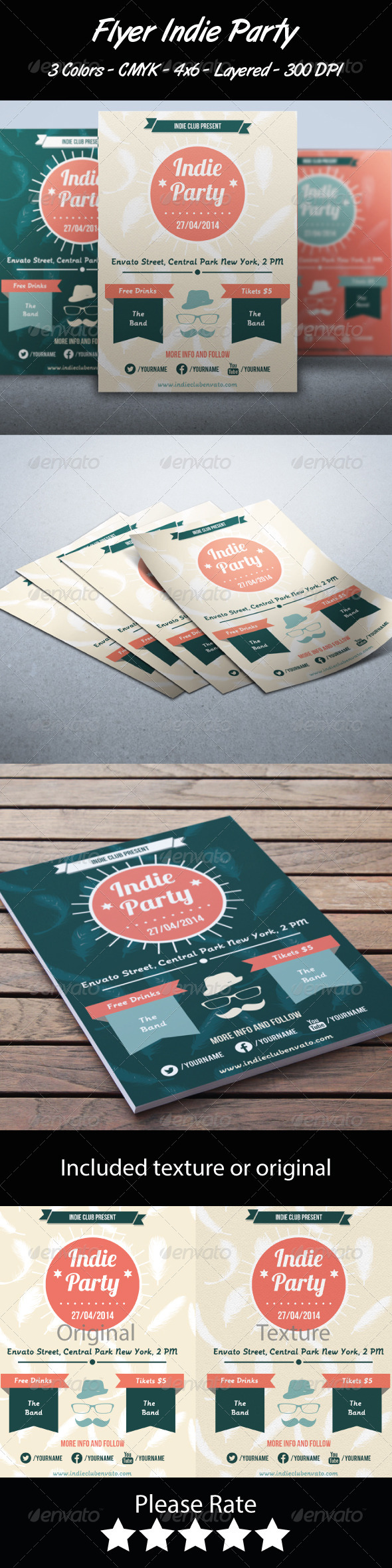 GraphicRiver Flyer Indie Party 7028830