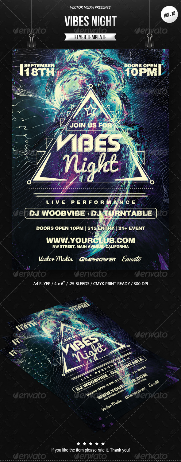 GraphicRiver Vibes Night Flyer [Vol.15] 7035253