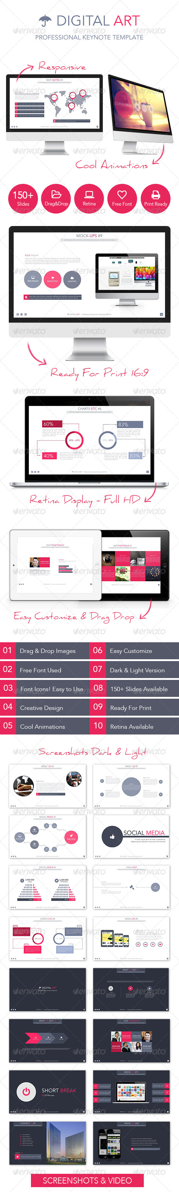 GraphicRiver Digital Art Creative Keynote Template 7052901