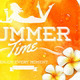 Summer Time Greeting and Tropical Flowers - GraphicRiver Item for Sale