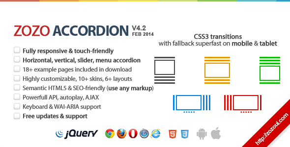 Zozo Accordion - Responsive and Touch-Friendly  - CodeCanyon Item for Sale