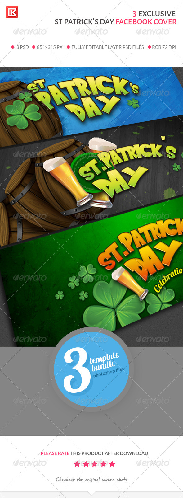 GraphicRiver st Patrick s Day Facebook Cover Collection 7053009