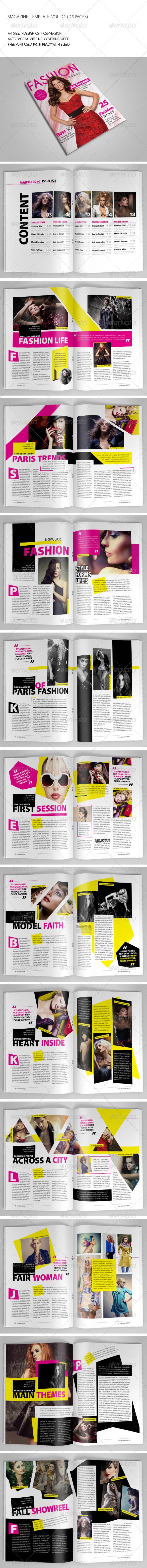 GraphicRiver 25 Pages Fashion Magazine Vol21 7053274