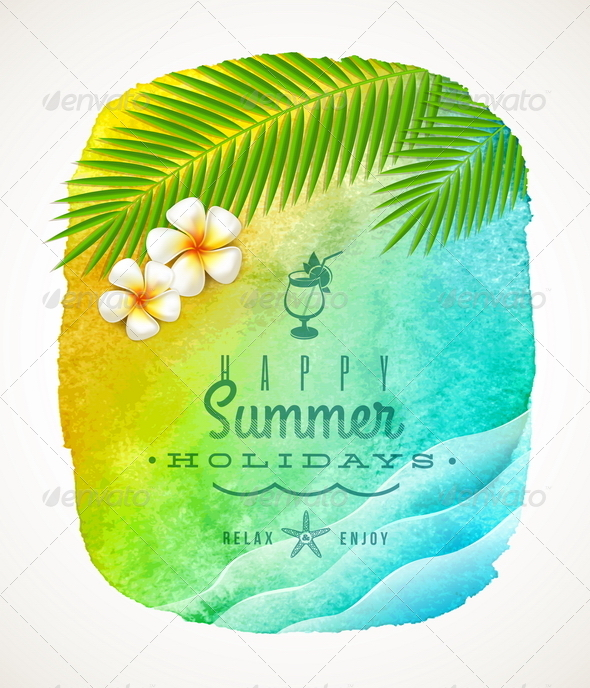 GraphicRiver Summer Holiday Greeting 7053289