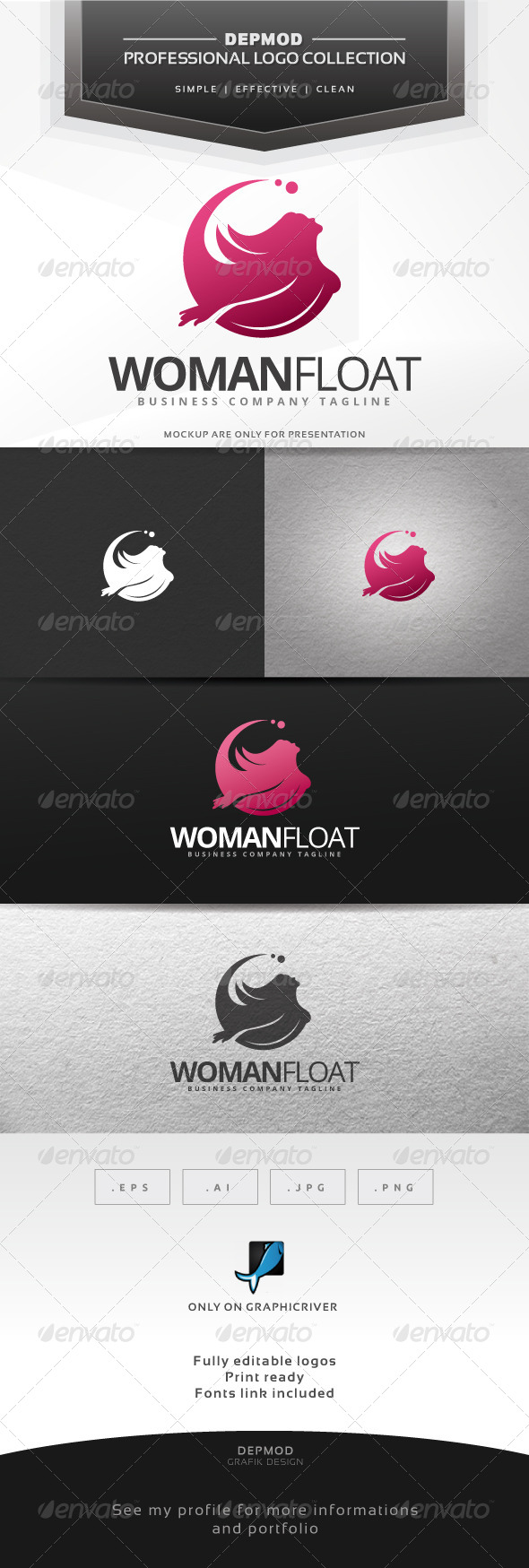 GraphicRiver Woman Float Logo 7053985