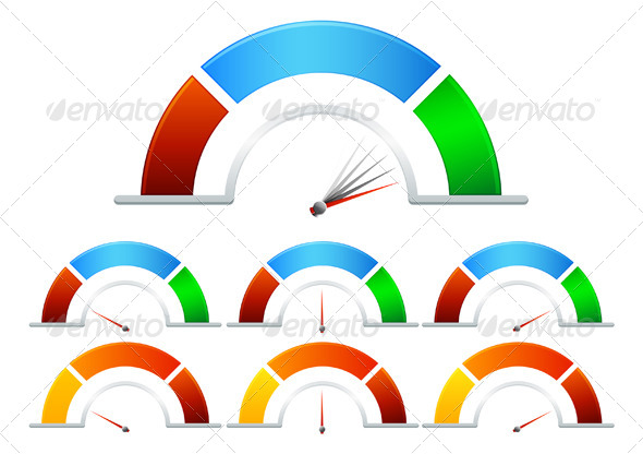 GraphicRiver Performance Meter Illustration 7054320
