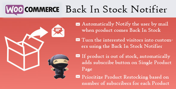 CodeCanyon WooCommerce Back In Stock Notifier 7054649