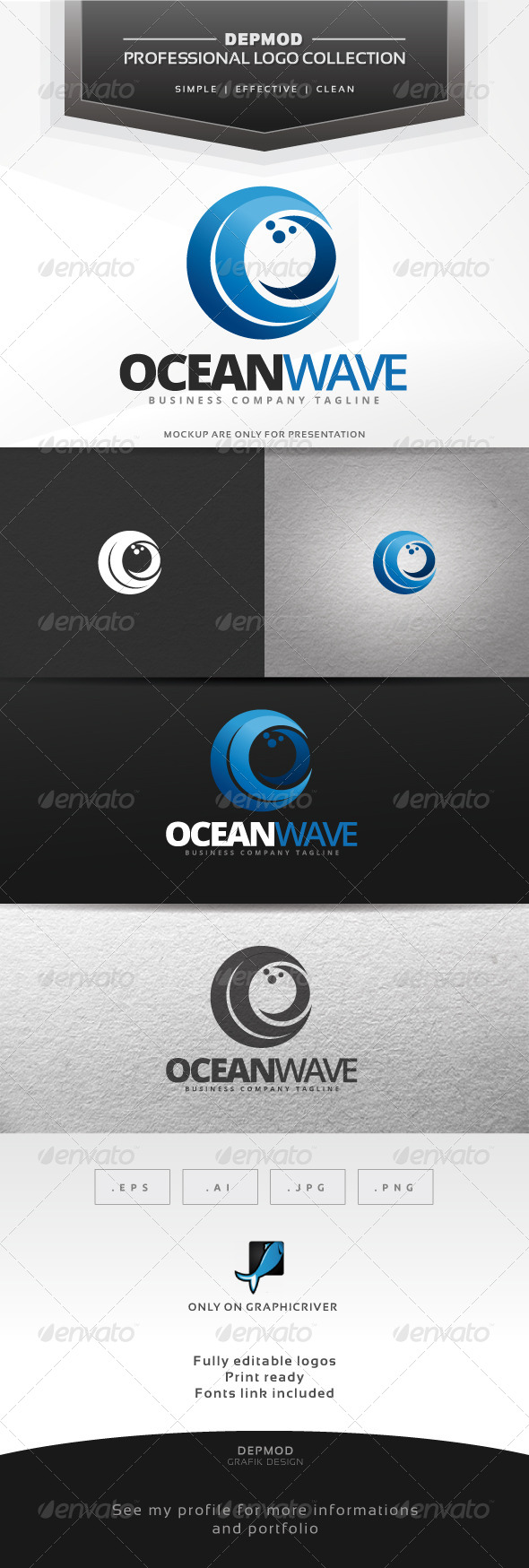 GraphicRiver Ocean Wave Logo 7055115