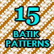 15 Batik Patterns Set - GraphicRiver Item for Sale