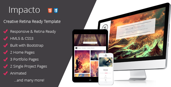 Impacto - Flavorful and Minimalistic Template - Portfolio Creative