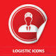 Logistics Label Icons - GraphicRiver Item for Sale