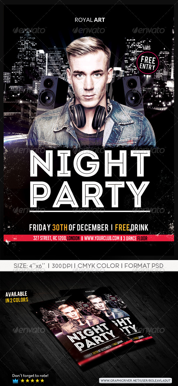 GraphicRiver Flyer Night Club 7058988