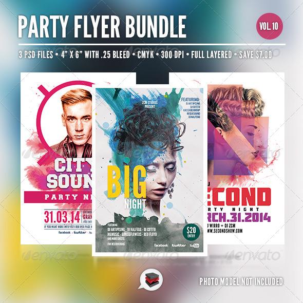 GraphicRiver Party Flyer Bundle Vol 10 7059049