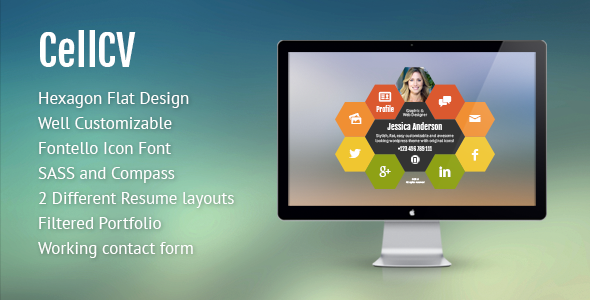 ThemeForest CellCV Personal Portfolio & Resume Site 7029699