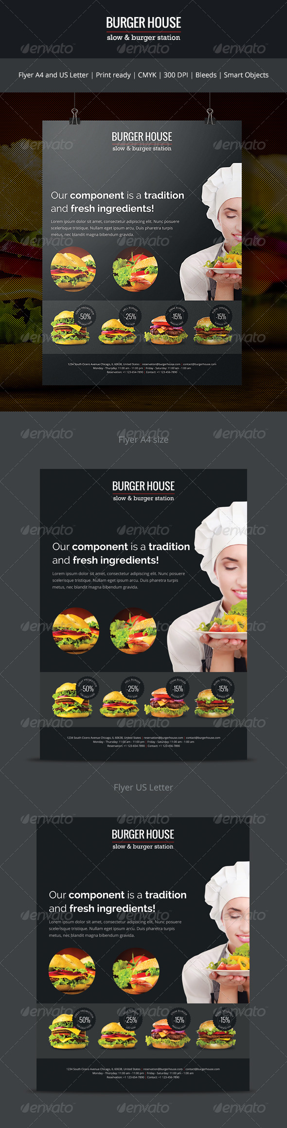GraphicRiver Burger House Flyer 7059620