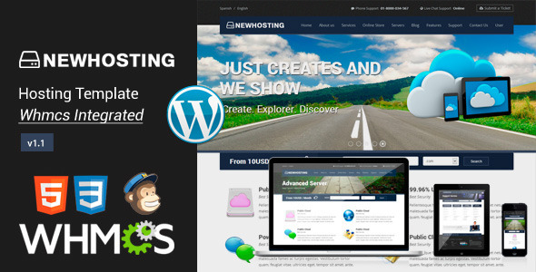 NewHosting - Responsive Hosting WordPress Theme - Hosting Technology